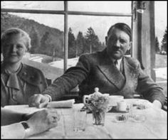 Eva Braun and Adolf Hitler in 1938