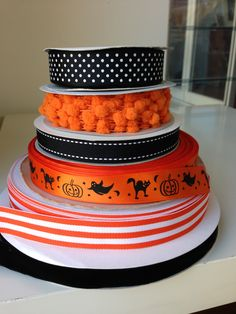 Spooky Halloween ribbon from tresdivin.com.au Halloween Ribbon, Spooky Halloween, Grosgrain Ribbon, Wraps, Gift Wrapping, Pretty, Desserts, Gifts, Ideas