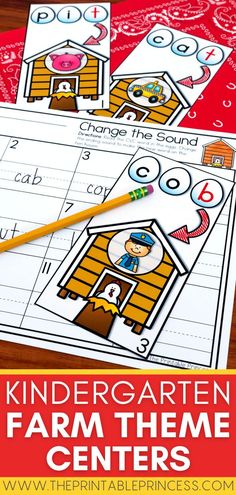 These adorable farm themed kindergarten literacy and math centers are a perfect addition to your farm unit, spring unit, or even prep for a field trip! Activities are hands-on, interactive, engaging and perfect for Kindergarten as students make CVC words, count teen numbers, work with ten frames, solve subtraction problems & more!