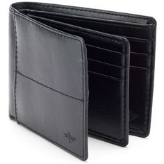 Men's Dockers® Extra-Capacity Bifold Wallet ($23) ❤ liked on Polyvore featuring men's fashion, men's bags, men's wallets, black, mens wallets, mens tri fold wallet, bi fold mens wallet, tri fold mens leather wallet and mens trifold wallets
