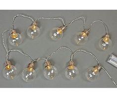 LED-Lichterkette Bulbs, L 135 cm