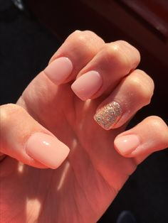Bubble bath by OPI with gold glitter accent nail