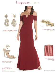 Winter Special Occasion Gowns from Nordstrom Red Bridesmaid Dresses, Black Wedding Dresses, Wedding Dresses Plus Size, Boho Wedding Dress, Red Wedding, Wedding Ideas, Black Tie Attire, Gold Evening Dresses, Special Occasion Dresses