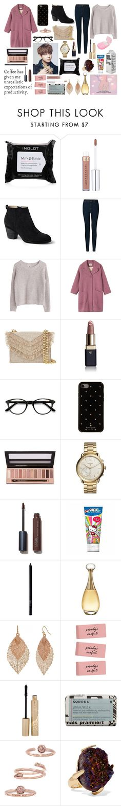 """Ideal Type Taehyung"" by amyliannebarlow ❤ liked on Polyvore featuring Inglot, Lands' End, Vero Moda, MTWTFSS Weekday, Toast, Cynthia Rowley, Clé de Peau Beauté, EyeBuyDirect.com, Kate Spade and L.A. Girl"