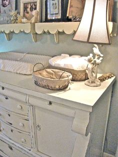 I have the dresser, and am going to be re-finishing it to use for Miss Piper as a dresser/changing table! This is just what I want it to look like!
