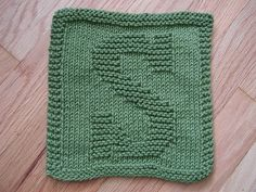 """Knitted """"S"""" cloth by Rhonda White"""