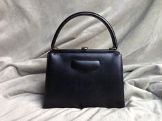 Vintage MichelsDrew Black Leather 1950s Purse by DaraSeans on Etsy, $49.99