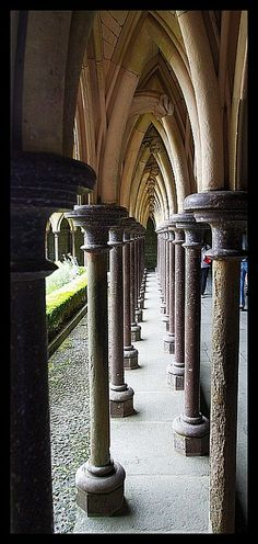 Bishop Aubert would be so proud to see Monastery Cloister on Mont St. Michel: http://www.normandythenandnow.com/a-headache-at-mont-saint-michel/