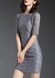 Lilac lace bodycon dress