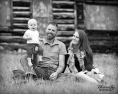 Adorable family portrait pose