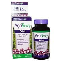 Natrol, AcaiBerry Diet, Acai & Green Tea Super Foods, 60 Fast Capsules | iHerbSuperfood.com