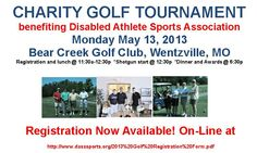 Online registration is now available for our Golf Tournament on Monday May 13th - we have a few spots open for teams!