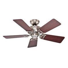 Hunter Hudson 42 in. Brushed Nickel Ceiling Fan - 52066 - The Home Depot