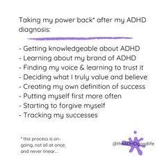 Self regulation, ADHD personal growth strategies, ADHD success, Be you with ADHD, self acceptance Of My Life, Life Is Good, Adhd Diagnosis, Definition Of Success, Adult Adhd, Self Regulation, Learning To Trust, Self Acceptance, Everyone Else