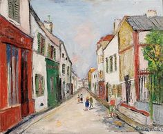 Bridge and Church - Maurice Utrillo - WikiPaintings.org
