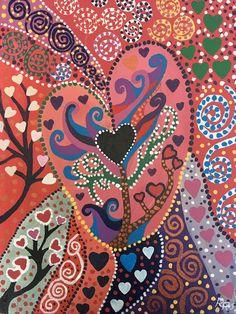 Folk Art Hearts - rrjavedart