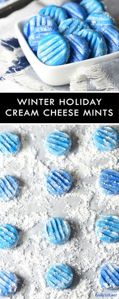 These Cream Cheese Mints have a melt-in-your-mouth texture and a bright peppermint flavor. Super easy to make and perfect for gift giving. Customize the color to suit your holiday!