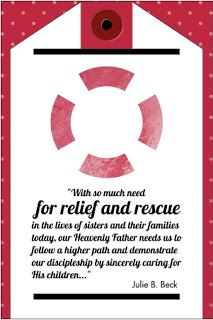 Visiting Teaching Pinspiration: Relief and Rescue