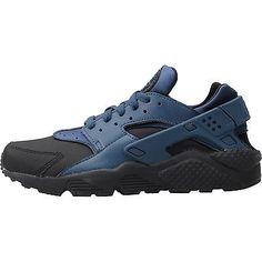 df937e29816 Nike Air Huarache Run Premium Mens 704830-004 Squadron Blue Running Shoes S  10.5 Nike
