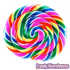 Fruity flavors make twisty turns around your tongue as you lick these giant swirling lollipops in a rainbow of colors! Case contains 10 wrapped Giant Rainbow Sw Rainbow Lollipops, Swirl Lollipops, Rainbow Face, Rainbow Swirl, Rainbow Stuff, Bulk Candy, Candy Shop, Candy Watch, Instead Of Flowers