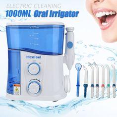 (74.04$)  Watch more here  - 1000ml Electric Nicefeel Dental Electric Jet Flosser Power Water Oral Care Flosser Family Teeth Cleaner Irrigator Series Eu Plug