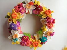 Spring/Easter wreath. Inspiration from Lucy at Attic24.