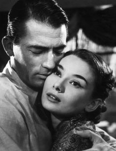 Gregory Peck and Audrey Hepburn in Roman Holiday directed by William Wyler, 1953