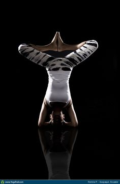 """#Yoga Poses Around the World: """"Headstand - by Romina P."""""""