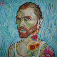 "Saatchi Online Artist Ryan Carlin; Painting, ""vincent"" #art"