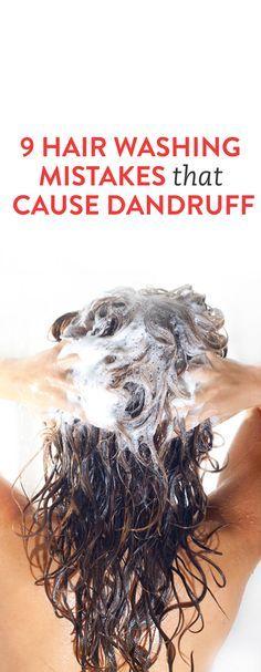 9 Hair Washing Mistakes That Cause Dandruff