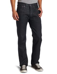 Levi's Men's 501 Jean - Personalize this button-fly 501 Original Jean, the iconic fit that's cut straight through the seat, thigh and leg. Made with denim washed once for a softer finish. Keep it dark and clean by washing as... - Jeans - Apparel