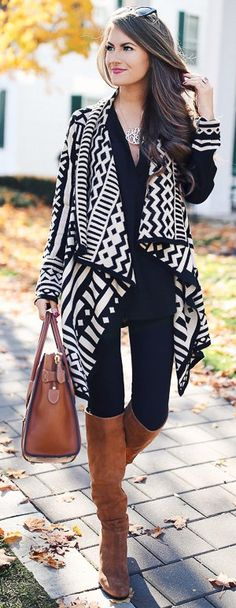 Black And White + Camel Boots                                                                             Source