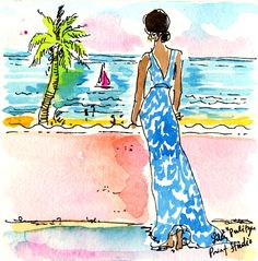The Beach is calling… 3 days till the First Day of Summer aka National Wear Your Lilly Day! #lilly5x5 #summerinlilly