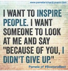 Make it happen. Join my team. Its the best job in the world! -Pamela of #BostonsBest www.bostonsbest.usana.com Everyone wants health & wealth and you will get there! All you need is integrity, passion and a dream. #personaldevelopment