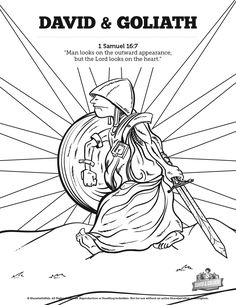 David And Goliath Sunday School Coloring Pages A Great Bible Story Deserves Some