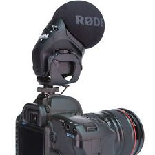 RODE STEREO Video Mic PRO Camera Mounted Microphone Canon 7D 5D T2i T3i w/ BOX