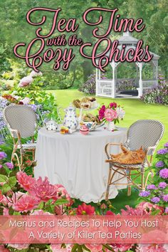 The Cozy Chicks realized that tea was such a perfect complement to cozy mysteries that we decided to write a book about it. Not only does Tea Time with the Cozy Chicks have delicious recipes, but it also includes themed tea menus, fascinating articles, fun facts, curious quotes, and helpful hints on how to host the most memorable tea parties ever! And for an extra treat, a few of us have included excerpts of our work as well! Read, cook, drink tea, savor, and most of all enjoy!