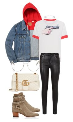 """""""Untitled #1339"""" by veronice-lopez ❤ liked on Polyvore featuring Levi's, Off-White, Citizens of Humanity, Yves Saint Laurent, Gucci, Chloé, Suzanne Kalan and myoutfitdatewithlouistomlinsonandharrystyles"""