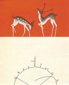 Nouvelles Images Holiday Boxed Note Card Set, Deco Deer and Greetings (XDB Each box contains 15 full sized cards and envelopes. Card image pictured on the Merry Christmas, Vintage Christmas Cards, Christmas Images, Vintage Holiday, Xmas Cards, Christmas Greetings, Holiday Cards, Christmas Deer, Holiday Wishes