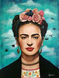a boem woman Naturally beauty. Frida Kahlo Work, Frida Kahlo Exhibit, Frida Kahlo Portraits, Frida Art, Fridah Kahlo, Frida Paintings, Most Famous Paintings, Diego Rivera, Art Original