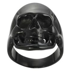 @Overstock.com - Daxx Black Stainless Steel Mens Skull Ring - Mens black skull ringStainless steel jewelryClick here for ring sizing guide  http://www.overstock.com/Jewelry-Watches/Daxx-Black-Stainless-Steel-Mens-Skull-Ring/6724396/product.html?CID=214117 $20.49