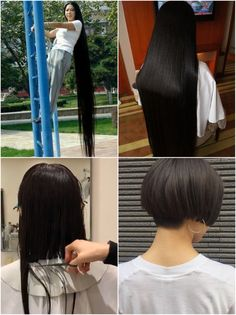 Short Hairstyles, Haircuts, Long Hair Cuts, Long Hair Styles, Bald Hair, Amazing Transformations, Cute Little Girls, Rapunzel, Bobs
