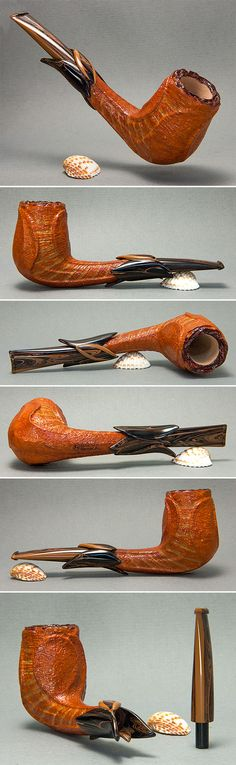 Orange Flower, by Kostas Gourvelos - Handcrafted Smoking Pipes http://www.kg-pipes.gr/