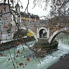 Tiber River (Rome) #italy #roma #rome #river #riverside #bridge #bridges #rivers #tiber