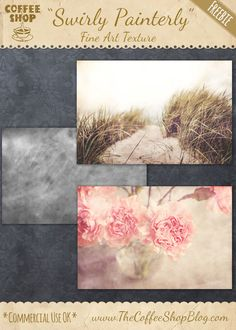 "The CoffeeShop Blog: CoffeeShop ""Swirly Painterly"" Fine Art Texture!"