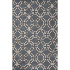 Jaipur Rugs Modern Geometric Pattern Gray/Taupe Wool Area Rug LOE25 (Rectangle)