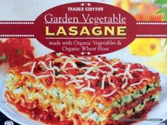 Quick, easy and flavorful. Trader Joe's Garden Vegetable Lasagne isn't half bad! #traderjoes