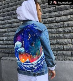 Handpainted denim jacket  4 days of work and now all the details finished, and naked girls are happy  #liliyakosmos #denim #jacket #painting #art #fashion #handmade #handpainted #jeans #blue #style #jeansjacket #drawing #waves #sea #denim #denimjacket #denimmood #kazan #naked #cosmos #космос #arts_help #worldofartists #moanart #topcreator #streetfashion #streetstyle #streetfashionkazan #fashionweek #contemporaryart