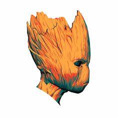 I am Groot! ADIM GROOT! #groot Marvel Dc, Marvel Fan Art, Marvel Films, Marvel Characters, Avengers Team, Groot Avengers, Marvel Wallpaper, Universe Art, 3d Prints