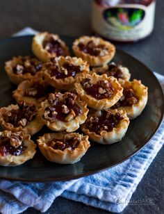 Baked Cherry Jalapeno Brie Bites Recipe ~A crunchy, creamy, salty, sweet, bite-sized appetizer kicked up a notch with a little cherry jalapeno jelly